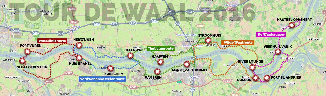 Tour de Waal routes 2016